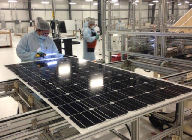 производство солнечніх панелей