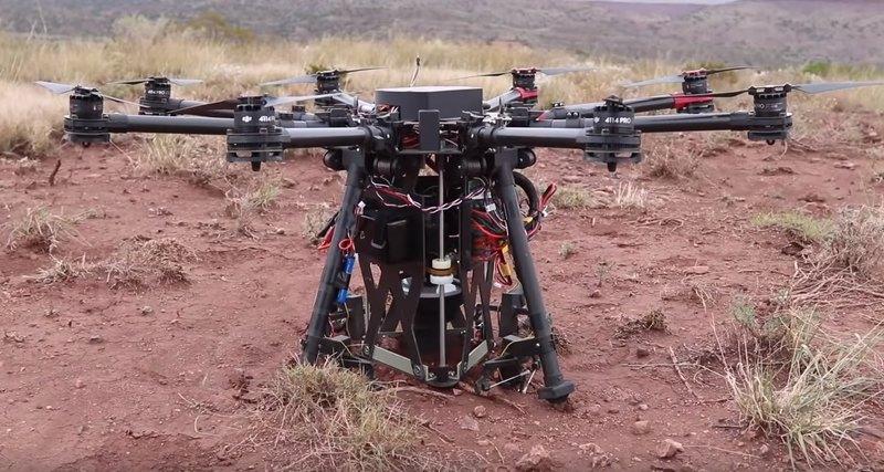 дрон з буром