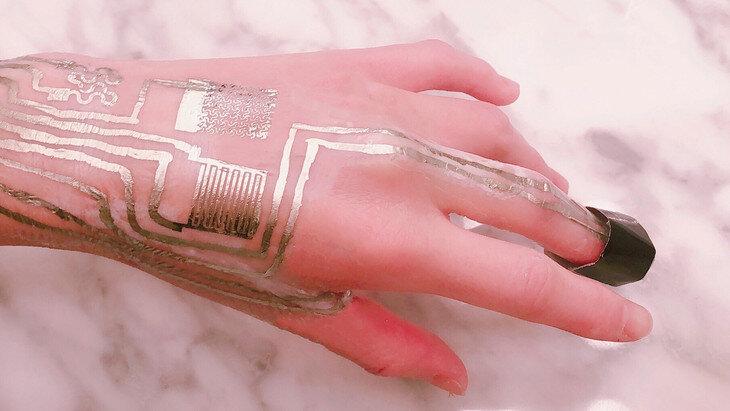 термодатчик на руці